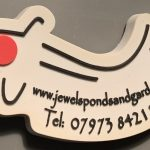 www.jewelspondsandgardens.co.uk Tancho keyring pin