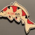Bigger Nishikoi Koi Food Sanke Keyring pin