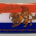 The FRIDLA pin, the First Royal Dutch Longfin Association pin